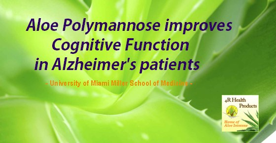 Aloe Improves Cognitive Health in Alzheimers Patients